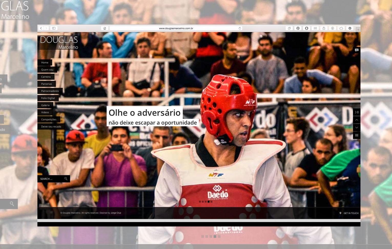 Website Douglas Marcelino - Taekwondo Alto Rendimento
